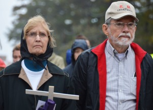 American Gothic at the School of the Americas Protest