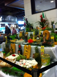 An alter at Rouses Market on Baronne St. was set up for people to visit on March 15, 2015. St. Joseph's Day alters typically are decorated with cakes, wines, and olive oil.
