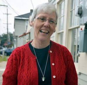 """""""Thirty years of notes, and charts, and pictures from work in religious education was gone. I felt stripped,"""" said Sister Suzanne Brauer, 67. Brauer was working at the St. Paul the Apostle Church on Chef Highway when she realized she would be evacuating New Orleans (Sara Feldman)"""